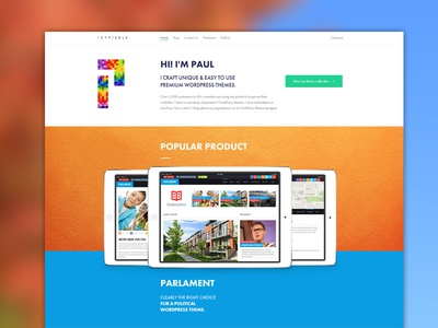 Icy Pixels Redesign Progress icons blue red website minimal interface web ux ui flat layout clean