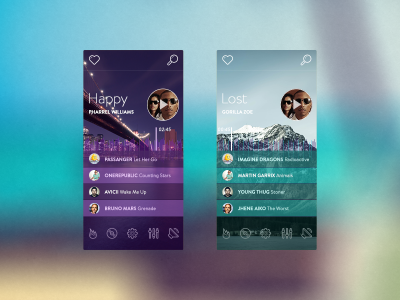 Music Player (FREE PSD) free freebie psd music player ui template photoshop