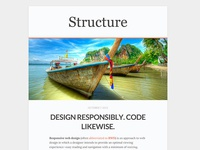 Structure - Free WordPress Blog Theme