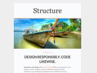 Structure - Free WordPress Blog Theme