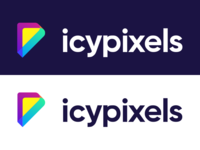 icypixels type simple colorful juxtaposition logotype logo identity font flat branding