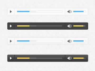 Audio Player Skins jplayer audio player freebie video player light dark free