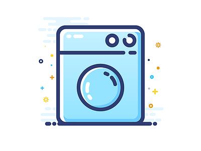 Washing machine washer washing machine design icon mbe gui illustrator ui
