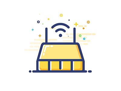 router router design icon mbe gui illustrator ui