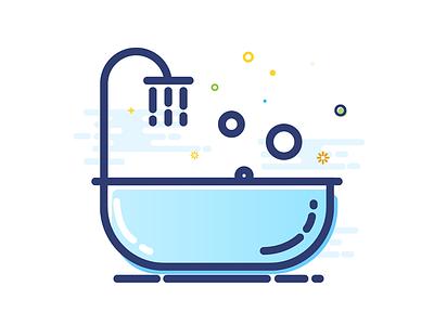 bathtub bathtub design icon mbe gui illustrator ui