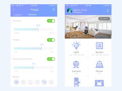Smart Home fridge lock ux smart home design iphone app mobile gui ui