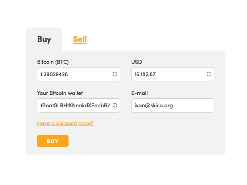 sell bitcoin on blockchain