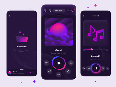 Music player 🎶 sound soundwave interface music player music app illustration application ux ui mobile ios app design player music