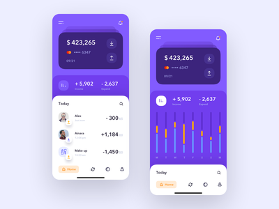 Banking App colorful inspiration finance colors ui design banking design application bank app bank mobile ui ios app mobile uiux ux ui