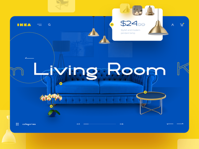 IKEA Redesign Concept online shop retail interaction light sofa store logo furniture redesign desktop ux ui web concept design ikea