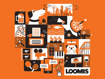 The LOOMIS Agency Tee copywriting texas dog film beer dallas digital grammy design agency t-shirt