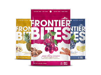 Frontier Bites Granola Packaging (Front) vector hand drawn packaging
