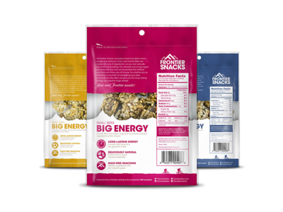 Frontier Bites Granola Packaging (Back)