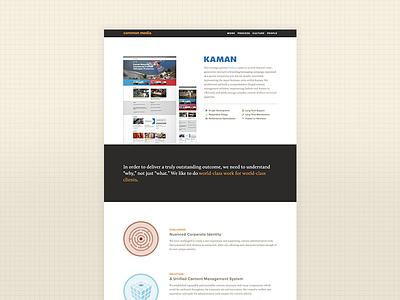Common Media Website development ui ux sketch css html web design