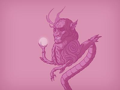 Bubblegum Dragon monster illustrator vector illustration art