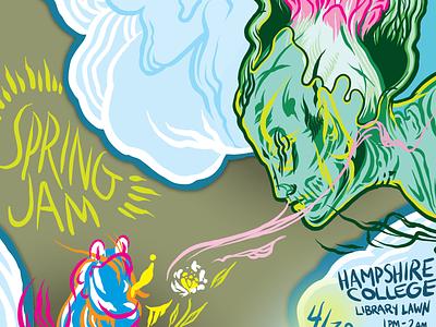 Hampshire College Spring Jam 2014 Poster adobe illustrator vector poster illustration