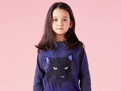 Little Mojo Panther illustration clothing kids apparel design adobe illustrator panther