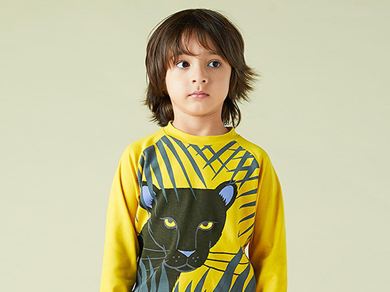 Little Mojo Panther panther adobe illustrator apparel design kids clothing illustration
