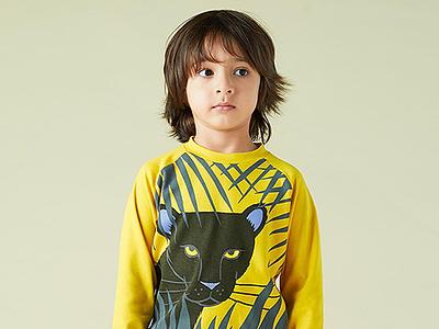 Little Mojo Panther panther adobe illustrator apparel design kids clothing illustration
