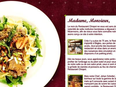 Chopiot restauration restaurant webdesign web