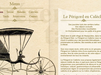 Le Périgord en calèche webdesign web