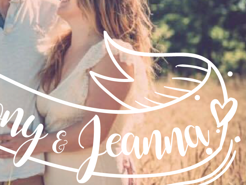 Anthony & Jeanna rennes announcement print wedding illustration édition mariage faire-part