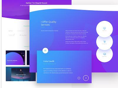 Portfolio website design webdesign website web ux branding ui design logo