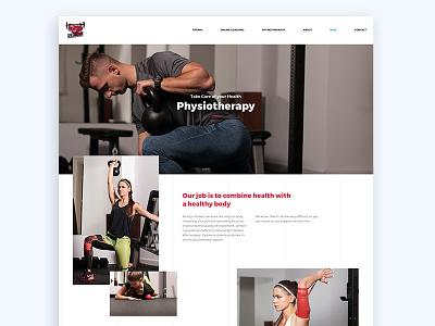 Fizjo Fitners - Offer Page logo design ui branding ux web website webdesign website design