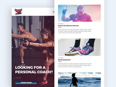 Mobile Design for Sports Website sport fitness app web ux ui sports