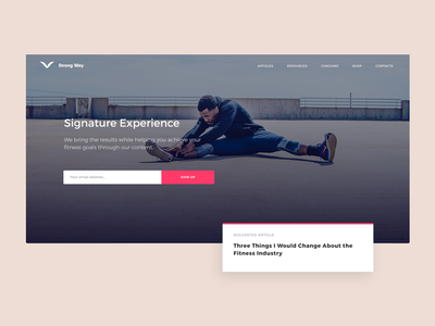 Sports Magazine/Blog ux ui branding web website webdesign website design strength sports fitness