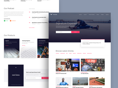 Strong Way - Fitness Blog and Clothing Line fitness sports strength website design webdesign website web branding ui ux