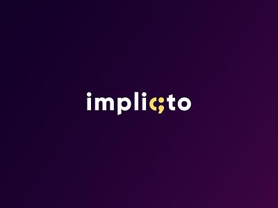 Implicto - Logo Concept programming software house software clean logo branding