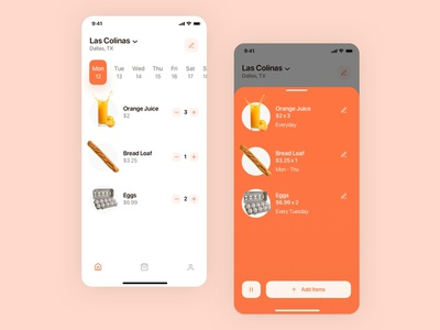 Daily Subscription Concept ecommerce subscription mobile app design subscribe mobile app design ui