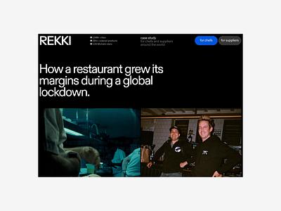 REKKI → PARLOUR, Case Study web layout grid typography minimal web design clean design