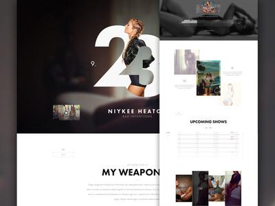Bad Intentions Pt2 design girl women website concept music model artist instagram luxury clean minimal