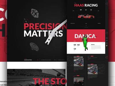 Go Fast 2 concept website web design layout clean tech engineer nascar race car racing cars