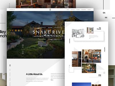 Snake River Interiors  white space grid typography steeze monochrome interior design interior minimal clean web design design architecture