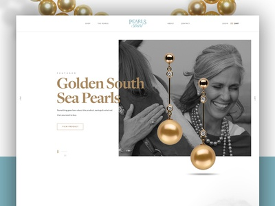 Pearls store shop layout shopping ecommerce minimal clean typography web design design modern jewlery