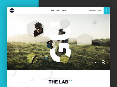 Gu Energy energy running shop big type web design layout grid whitespace design cycling active sports