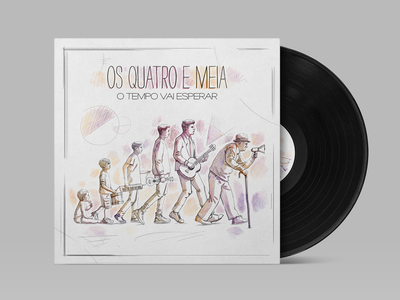 O Tempo vai Esperar by Os Quatro e Meia [Album Cover Design] sonymusic vinyl record vinyl cover music portugal album artwork album cover album art sketch design graphic design illustration j.tito gouveia