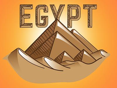 Egypt - Adidas Office desert sand pyramid pyramids egypt adidas typography vector jtitogouveia graphic design illustration j.tito gouveia