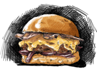 A-100 Burger Delivery Sketch
