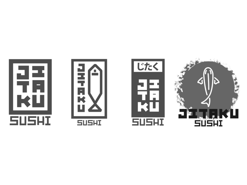 Jitaku Logos salmon tuna koi fish brand sushi japanese food brand and identity vector type logo icon design calligraphy caligrafia branding typography jtitogouveia graphic design illustration j.tito gouveia