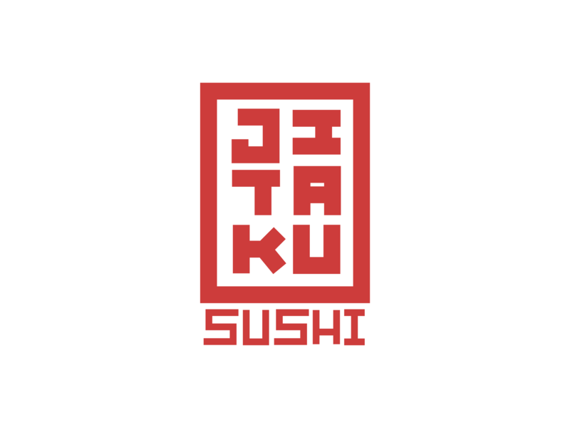 Logo Jitaku Sushi j.tito gouveia illustration graphic design jtitogouveia typography branding caligrafia calligraphy design icon logo type vector brand and identity japanese food sushi brand koi fish tuna salmon