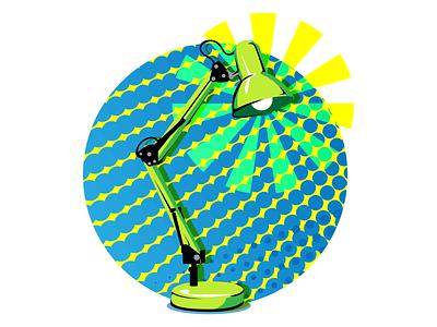 Pop Lamp popart pop art lamp vector design flat design jtitogouveia graphic design illustration j.tito gouveia