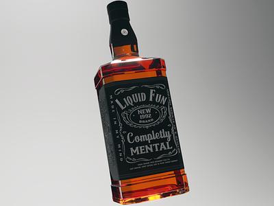 Liquid Fun jack daniels corona renderer rendered whiskey cinema 4d 3d art jtitogouveia j.tito gouveia
