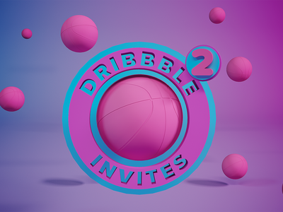 Dribbble Invites cinema 4d c4d dribbble invites invites giveaway invitaion dribbble design jtitogouveia graphic design illustration j.tito gouveia