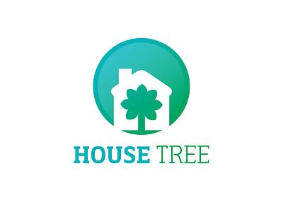 House Tree house illustration house logo tree logo treehouse brand type logo icon branding vector flat design design jtitogouveia graphic design illustration j.tito gouveia