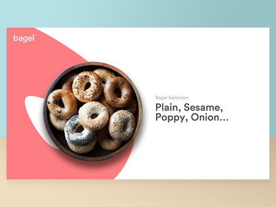 bagel™ - visual identity food identity colours simplicity ui web