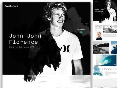 Pro'Surfers Landing art direction graphic design design web landing surf